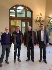 Beim Konzert in Magdeburg nahmen Komponisten aus Sachsen-Anhalt teil: (v.l.n.r.) René C. Hirschfeld, Bernhard Schneyer, Thomas Buchholz, Jens Klimek
